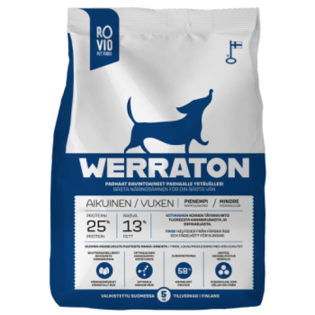 Werraton kuivtoit täiskasvanud koerale 12 kg