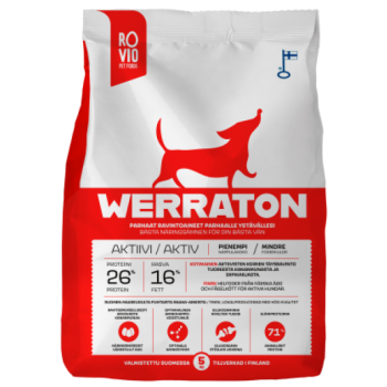 Werraton kuivtoit aktiivsele koerale 5 kg