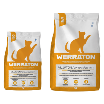 Werraton teraviljavaba kuivtoit täiskasvanud kassile 500g