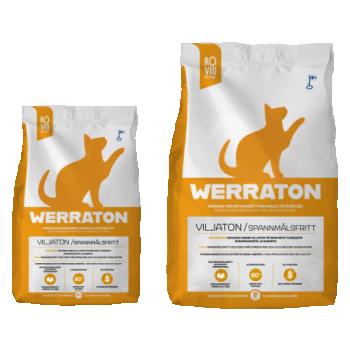 Werraton teraviljavaba kuivtoit täiskasvanud kassile 2kg