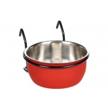 Söögi- ja jooginõu AVARO konksuga punane/must 290ml