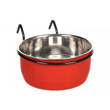 Söögi- ja jooginõu AVARO konksuga punane/must 580ml