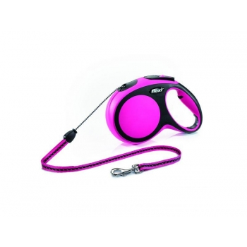 Flexi jalutusrihm Comfort nöör M roosa 8m