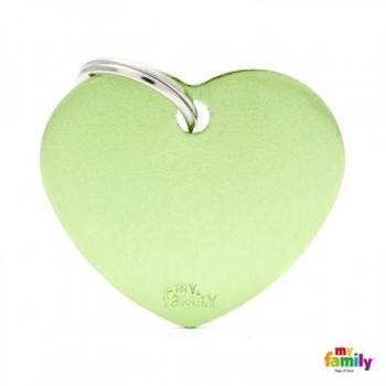 My Family ripats Basic süda suur roheline /MFB42/