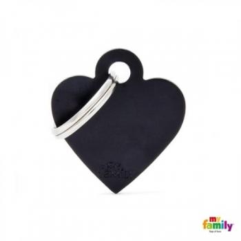 My Family ripats Basic süda väike must /MFB35/