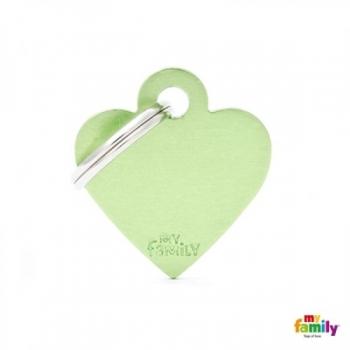 My Family ripats Basic süda väike roheline /MFB41/