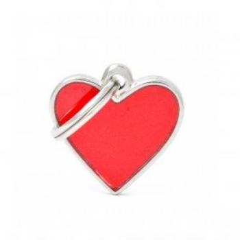 My Family ripats Reflective väike helkiv süda punane /RE03SMALLR/