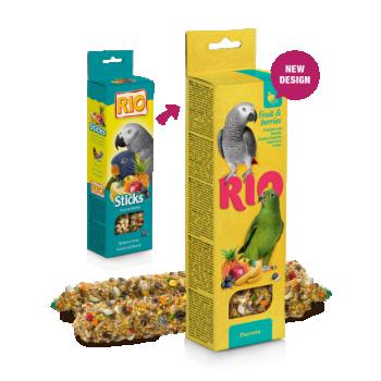 Rio maiusepulgad puuviljade ja marjadega papagoidele 2x75g