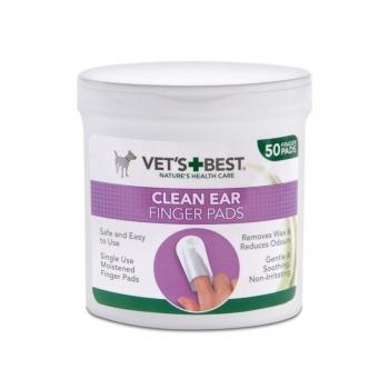 Vets Best koera/kassi kõrvapuhastuslapid näpule N50