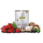 Isegrim STEPPE konserv Hobuseliha arooniate, šampinjonide ja metsürtidega 800 g