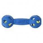 Koera mänguasi NERF Led Bash Barbell blue/red