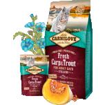 CL FRESH kassi täiskasvanud karpkala&forelliga 0,4kg