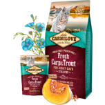 CL Fresh täiskasvanud kassi kuivtoit karpkala&forelliga 2kg