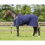 Fleece rug basic with cross surcingles Blue 185