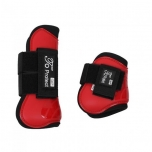 Luxury tendon boots set Bright red Pony