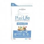 Pure Life kuivtoit Medium täiskasvanud koerale Lõhe & Pardilihaga 12kg