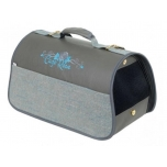 Cazo Pet Carrier Blue Rose 50x27x26cm