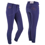 Ratsapüksid Breeches Chelsey Junior Anti slip full seat navy 164