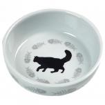 Keraamiline sööginõu kassile CATS valge