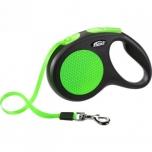 Flexi jalutusrihm New Neon Tape M black/neon roheline 5m-25kg