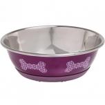 Sööginõu mittelibisev koerale SELECTA roosa 13CM 300ML