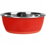 Sööginõu koerale peale kirjutamise võimalusega punane 15cm 950ml