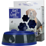Eat Slow Live Longer Amaze Flower Blue M