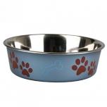 Sööginõu koerale BELLA KENA metallsinine 23cm 2200ml