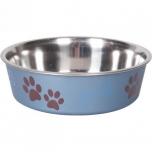 Sööginõu koerale BELLA KENA metallsinine 17cm 800ml