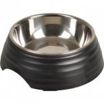 Sööginõu koerale ASCHAU RIDGED matt must S 160ml