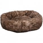 Koera ümmargune pesa CORNO pruun 90x18cm