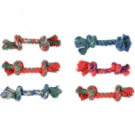 DT COTTON JIM PLAYING ROPE MINI MULTICOLOUR 17CM ASS 3PCS