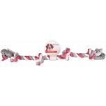 Koera mänguasi 4 sõlmega puuvillane nöör JIM 60CM