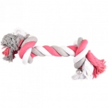 DT COTTON JIM PLAYING ROPE 2 KNOTS MULTI JUMBO 45CM