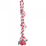 DT COTTON JIM PULL ROPE 3 KNOTS MULTICOLOUR 60CM