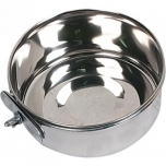 FEEDING AND DRINKING BOWL AVARO WITH NUT STAINLESS STEEL 10CM 290ML