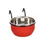 Söögi- ja jooginõu AVARO konksuga punane/must 150ml