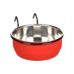 Söögi- ja jooginõu AVARO konksuga punane/must 880ml