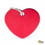My Family ripats Basic süda suur punane /MFB30/