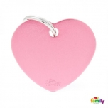 My Family ripats Basic süda suur roosa /MFB29/