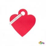 My Family ripats Basic süda väike punane /MFB25/