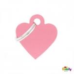 My Family ripats Basic süda väike roosa /MFB24/