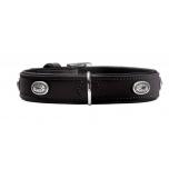Collar Softie Stone 50 nickel  Artificial leather black/ black