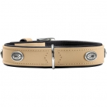 Collar Softie Stone 55 nickel   Artificial leather tan/ black