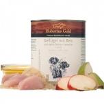 Hubertus Gold® Linnuliha riisi ja õuna-pirni kompotiga + linaseemneõli 800g