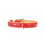 collar koera kaelarihm brilliance kristall 21-27cm punane